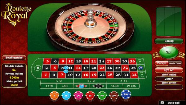 En runde Roulette Royal er i fuld gang hos Lanadas Casino